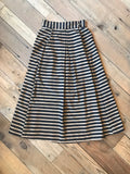 Rue Skirt in Black Stripe