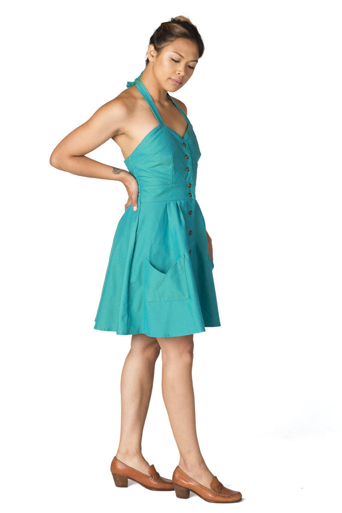Bedding Dress in Aqua