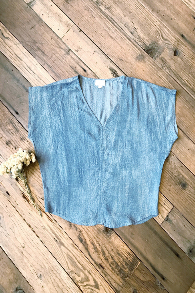 Dolman Top in Robin Egg Blue