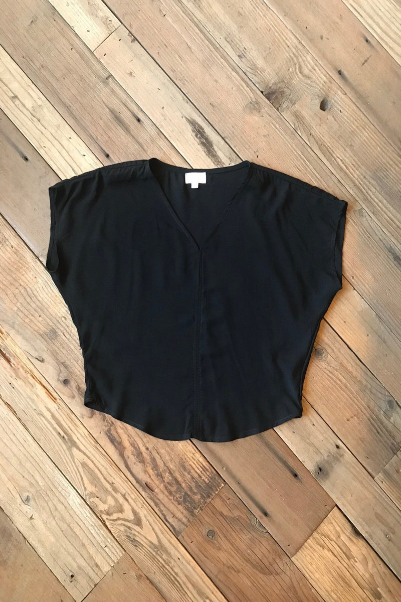 Dolman Top in Black Challis