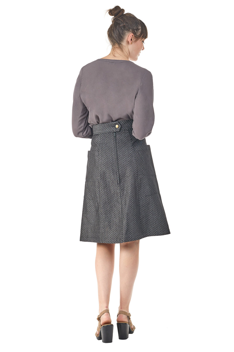 Atheno Skirt in Smoky Dot