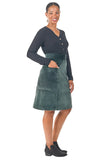 Atheno Skirt in Spruce Velvet