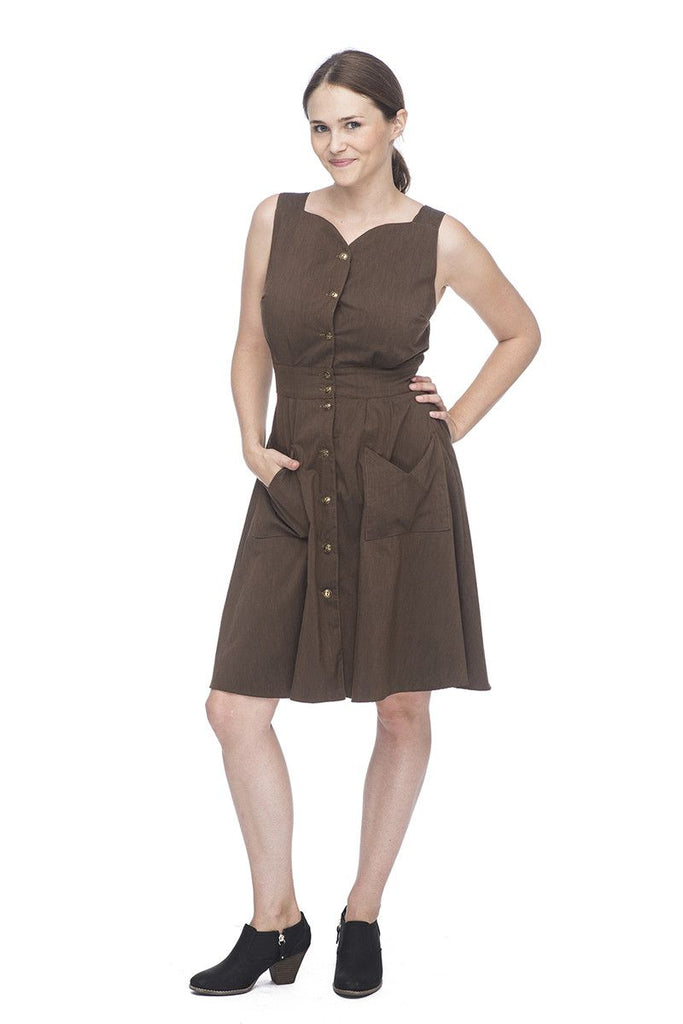 Sheet Dress in Brown