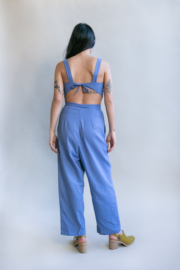 Liberty Jumpsuit in Topaz Linen