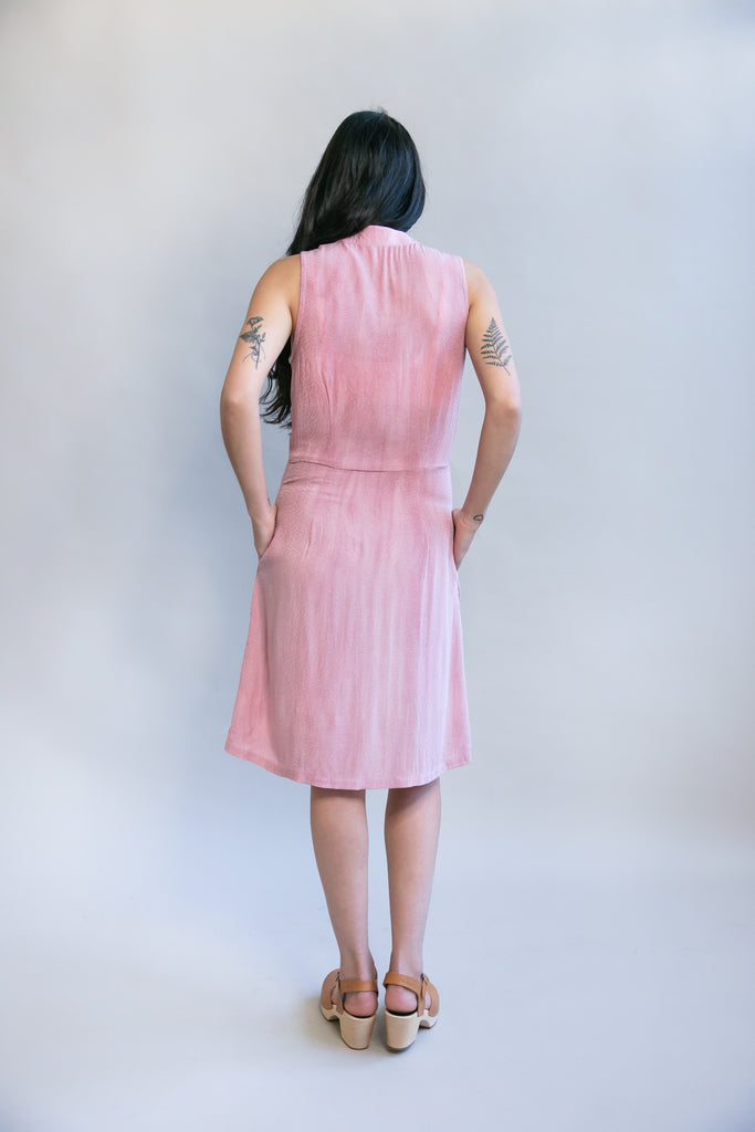Paloma Dress in Pink Dot