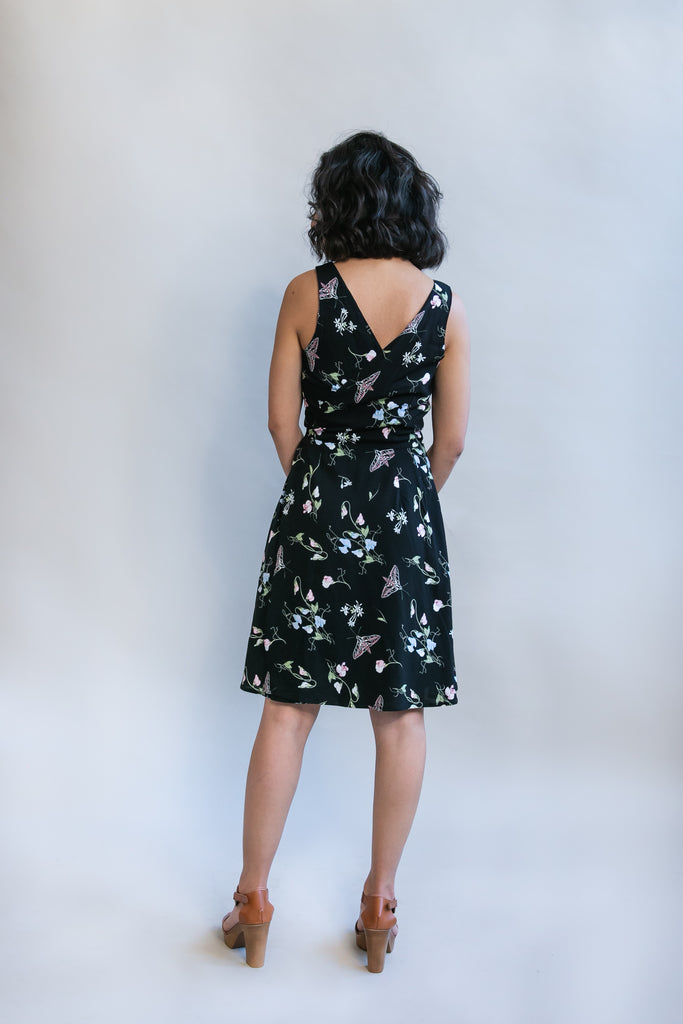 Wrap Dress in Sweet Pea