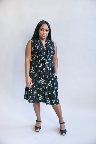 Wrap Dress in Dark Denim