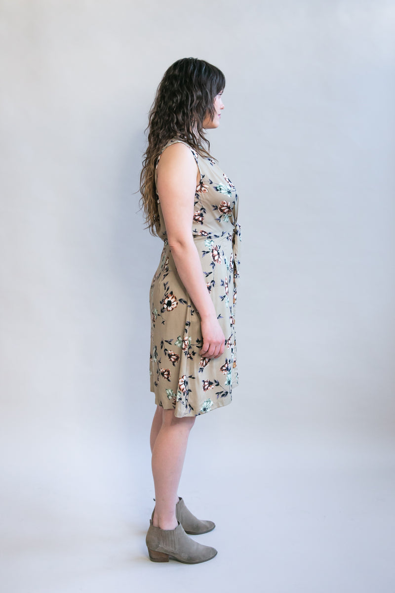 Paloma Dress in Taupe Floral