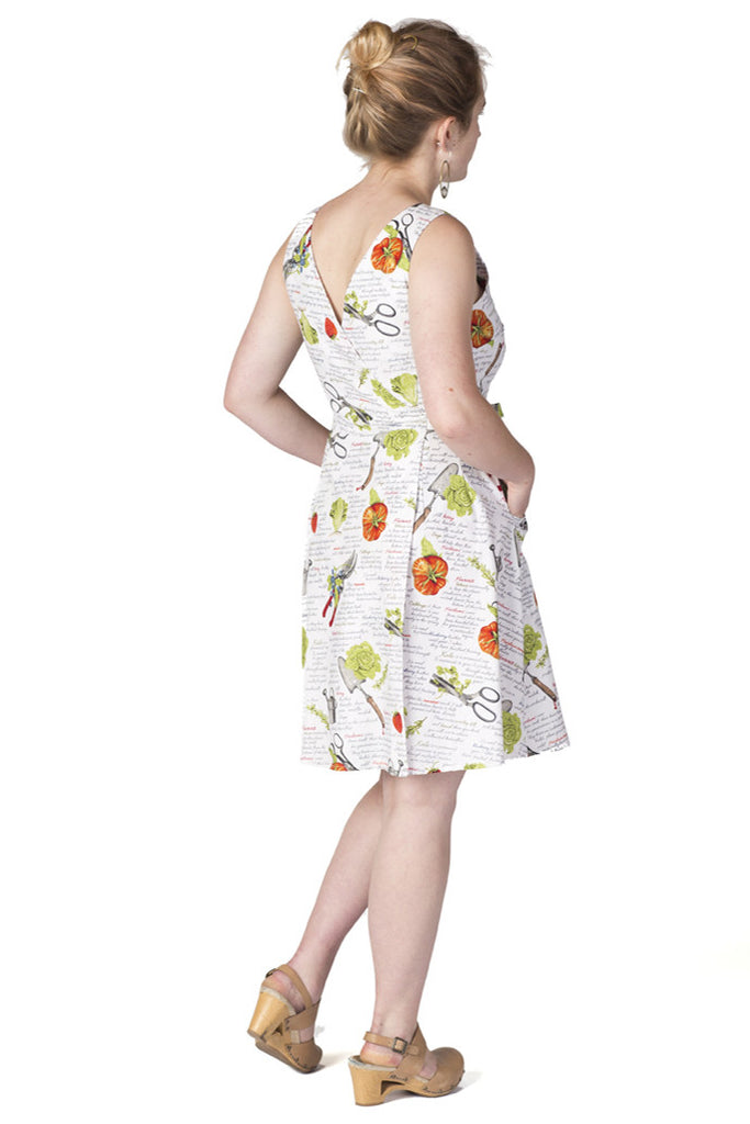 Wrap Dress in Garden