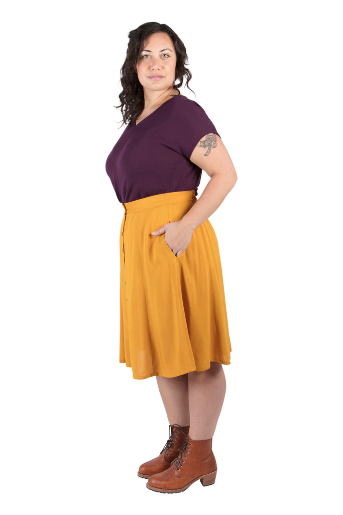 Dolman Top in Eggplant Gauze