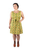 Wrap Dress in Lemon Wood Sorrel