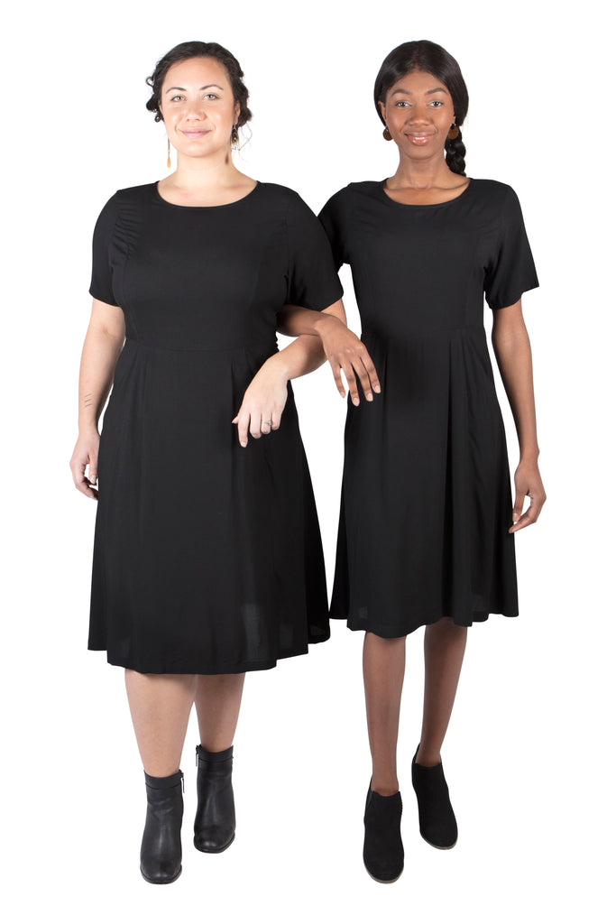 Ingrid Dress in Black Rayon