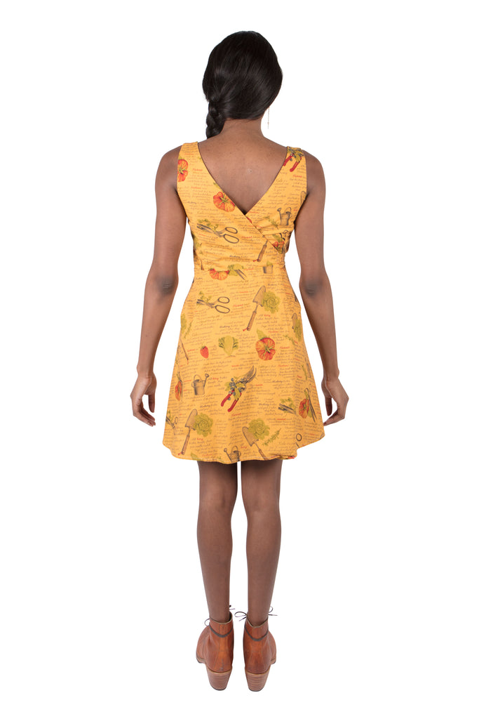 Wrap Dress in Calendula Garden