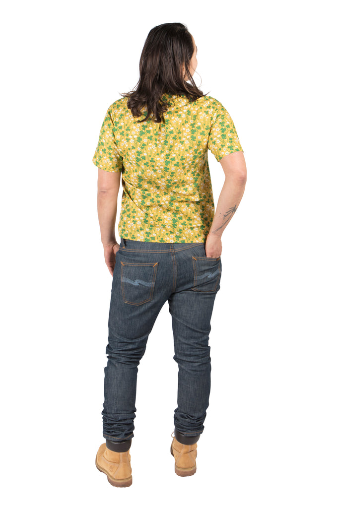 Unisex Button Up in Lemon Wood Sorrel