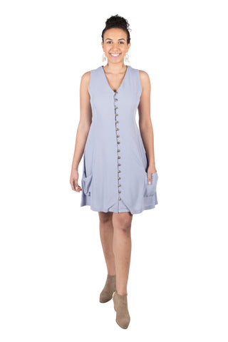 Belted Bias Dress in Celadon Challis