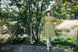 Ingrid Dress in Lemon Wood Sorrel