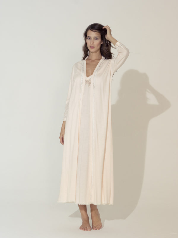 Jersey Nightgown & Robe - Dress & Robe - italian lingerie