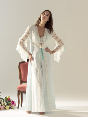 Cotton Nightgown & Robe - Dress & Robe - italian lingerie