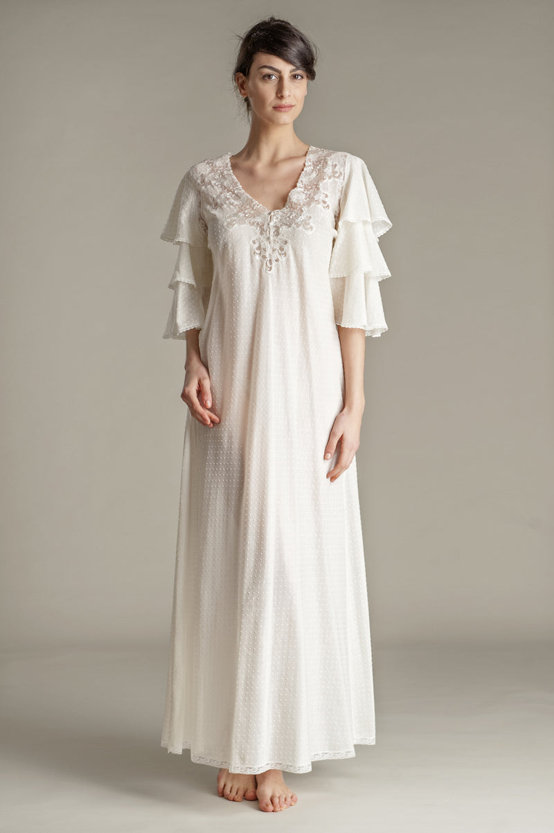 B2B - Mussola Cotton Nightgown - Dress - italian lingerie