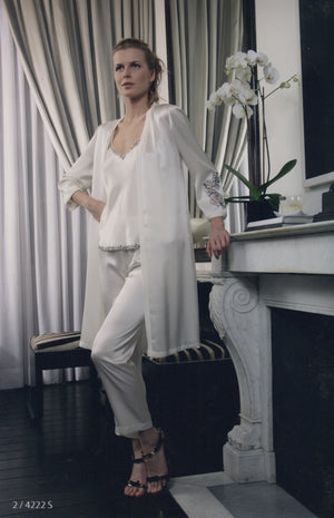 Adele - Silk Pyjama & Robe - Dress & Robe - italian lingerie