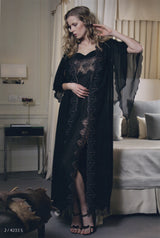 Valerie - Silk Nightgown & Robe - Dress & Robe - italian lingerie