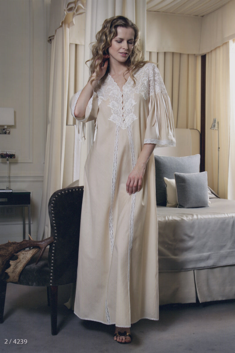 Nadia - Cotton Nightgown - Dress - italian lingerie