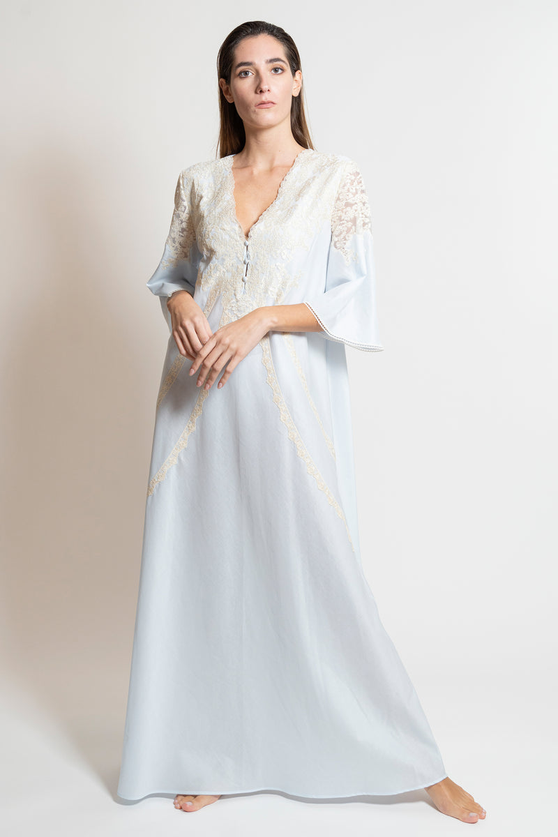 Mussola Cotton Nightgown - Dress - italian lingerie