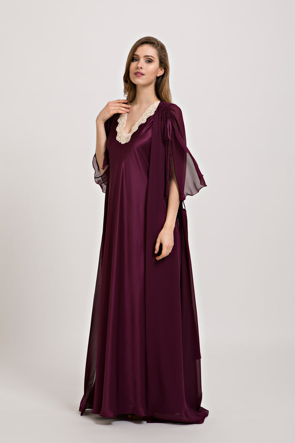 Silk Nightgown - Dress - italian lingerie