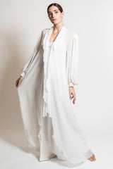 Silk Georgette Robe - Dress - italian lingerie