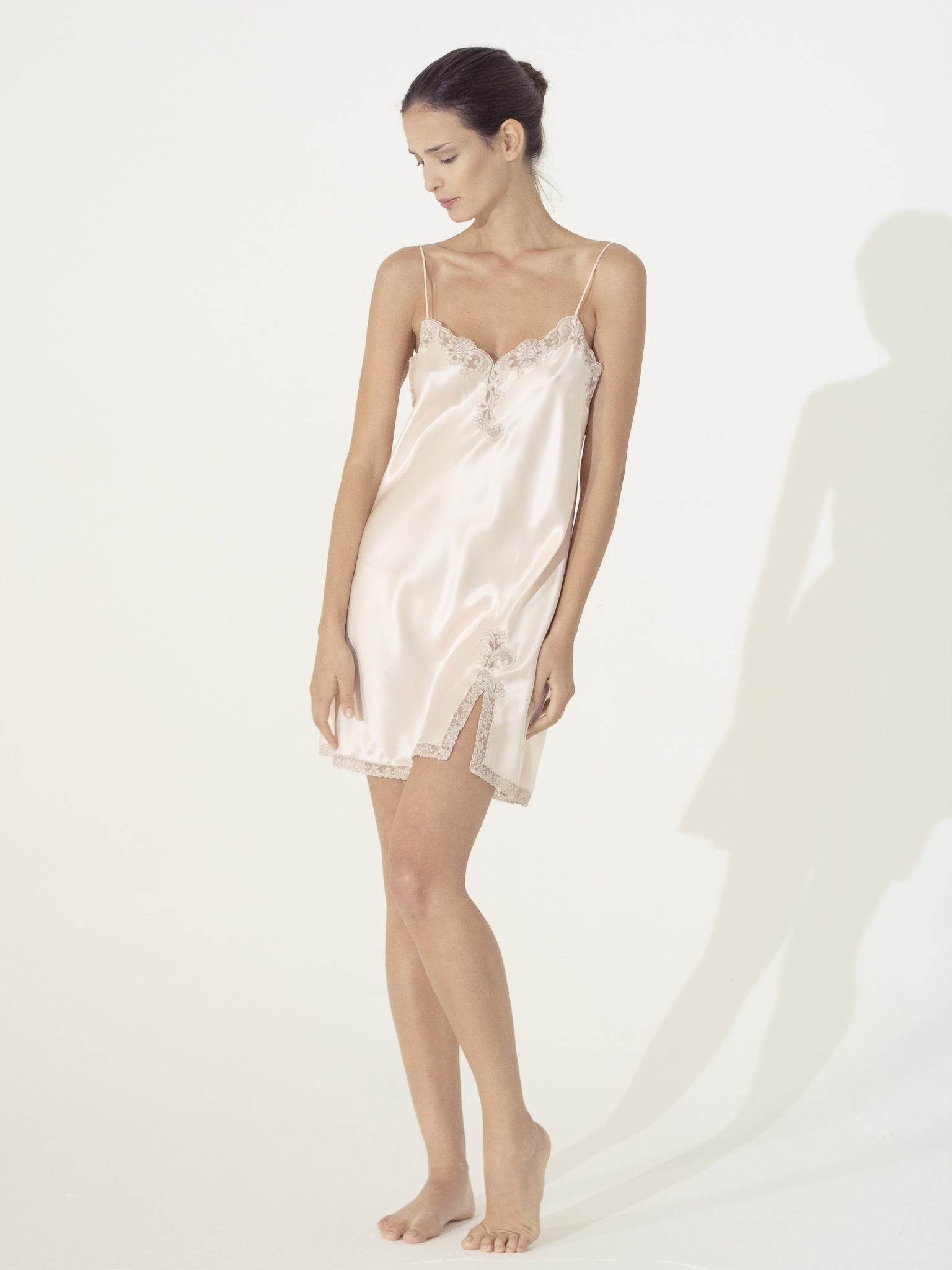 Silk Short Nightgown - Dress - italian lingerie