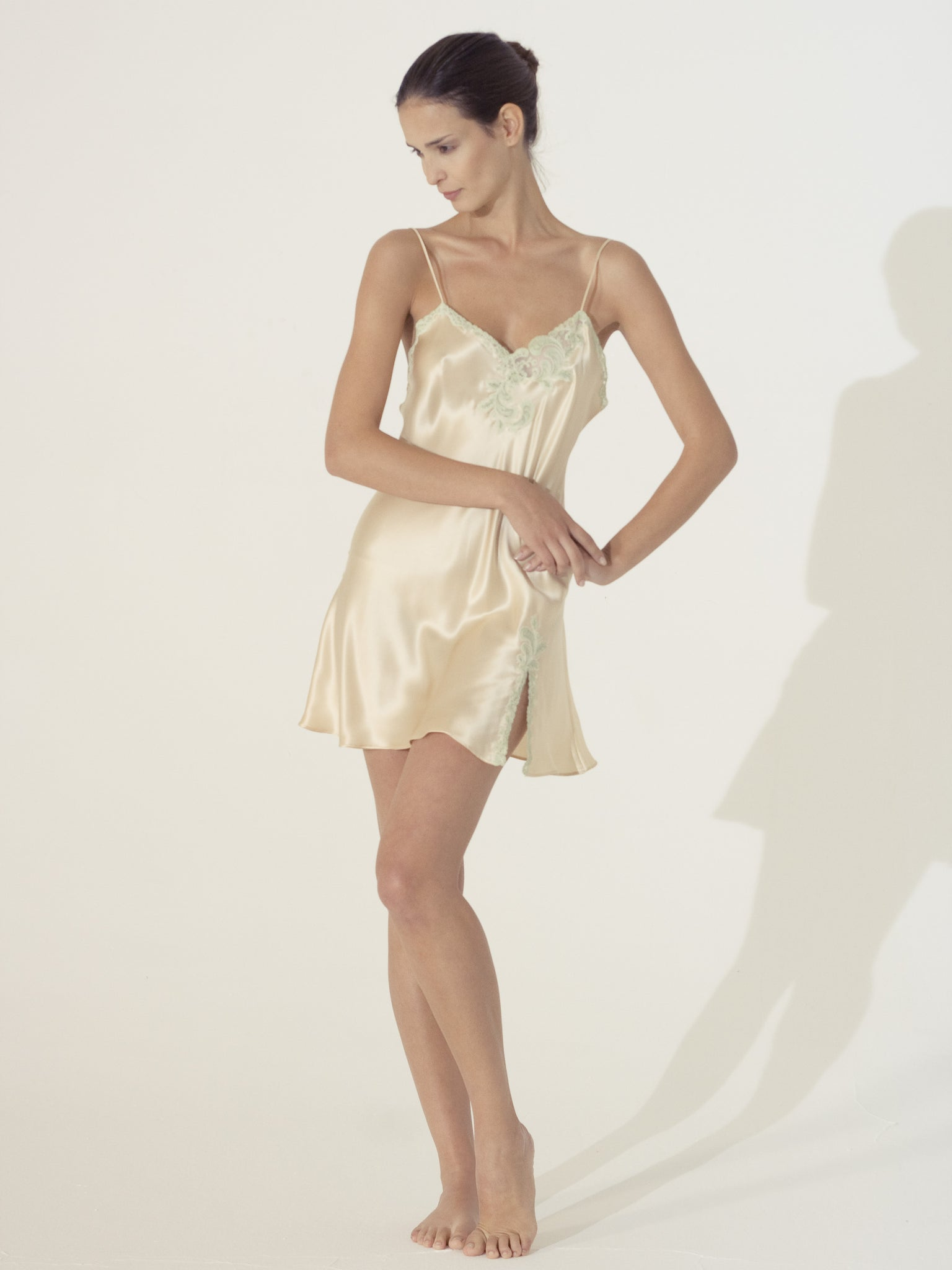Silk Short Nightgown - Flora Lastraioli Shop Online