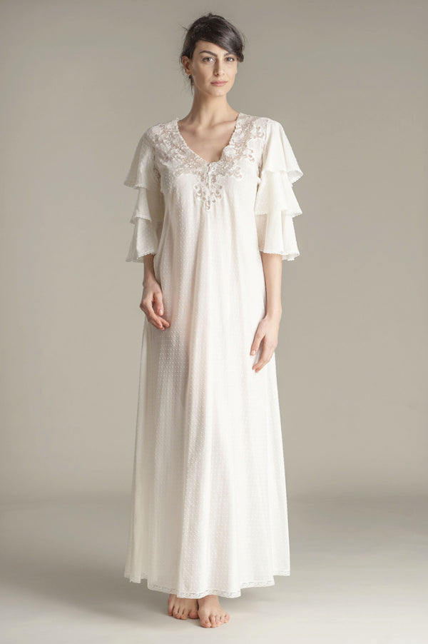 Cotton Nightgown - Giselle - Dress - italian lingerie