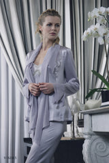 Claudia - Silk Pyjama & Robe - Dress & Robe - italian lingerie