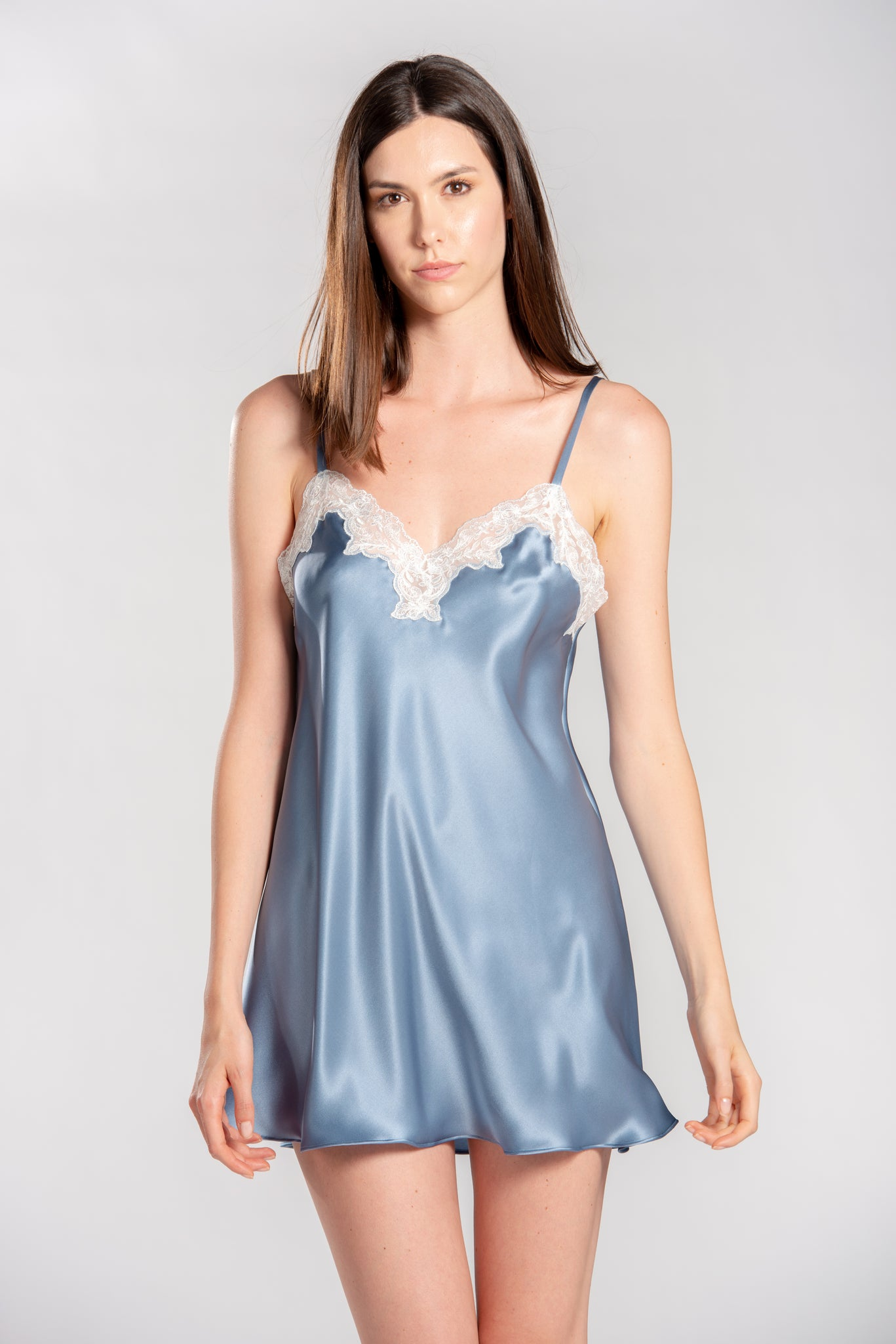 Satin Short Nightgown