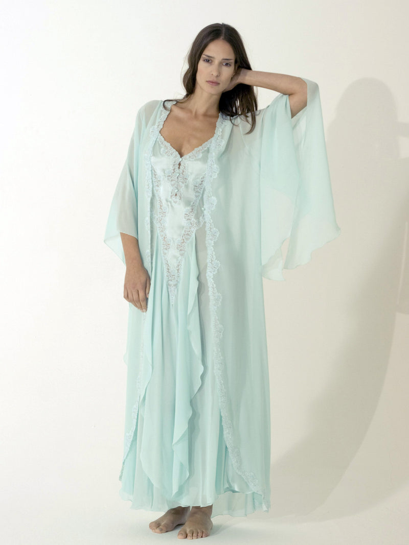 Long Silk Robe - Dress & Robe - italian lingerie