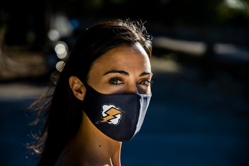 Blu Flash - Removable Filter Cotton Face Mask -  - italian lingerie