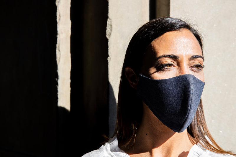 Scorpion Denim - Removable Filter Cotton Face Mask - Accessory - italian lingerie
