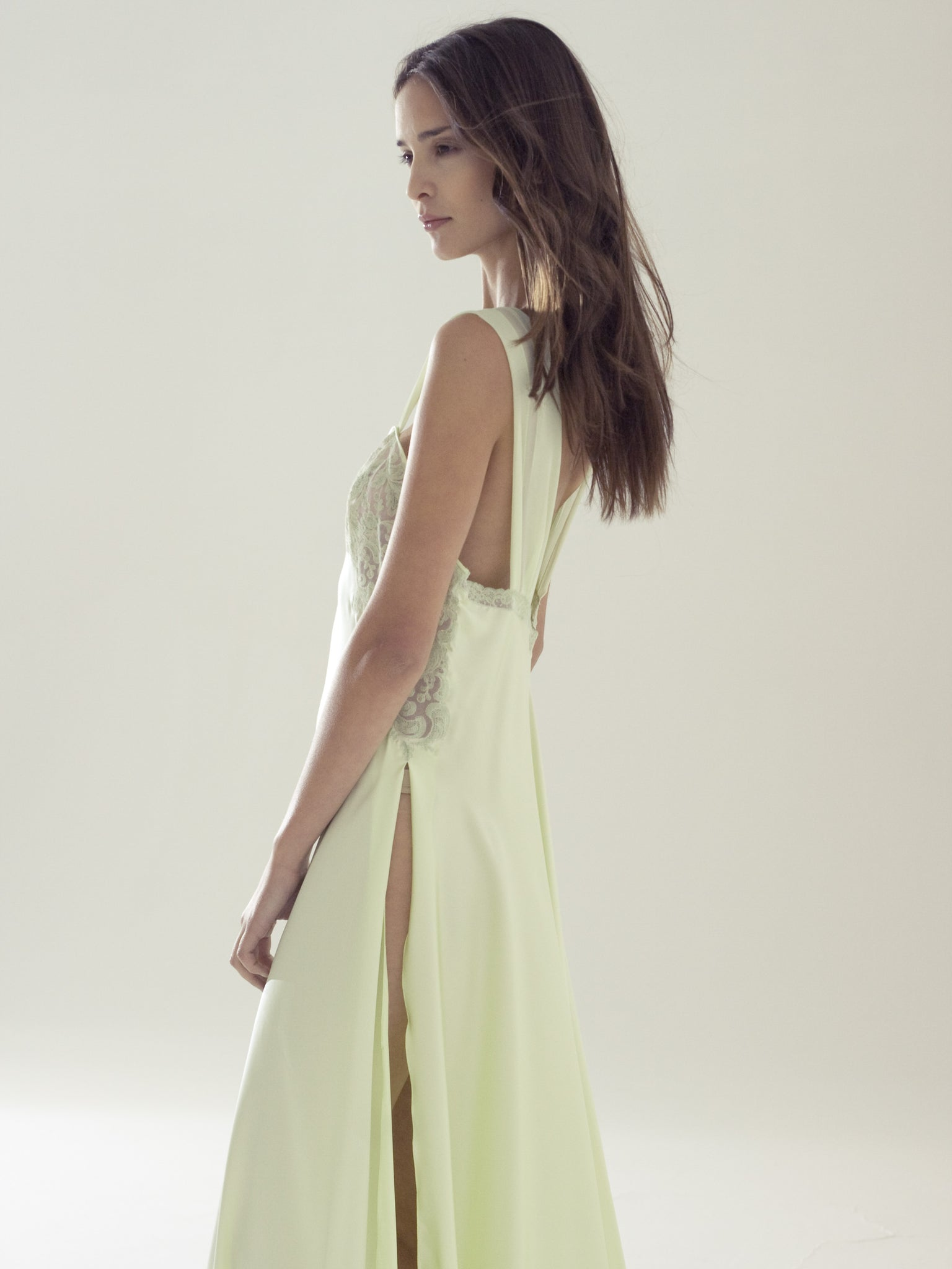Long Silk Nightgown - Flora Lastraioli Shop Online