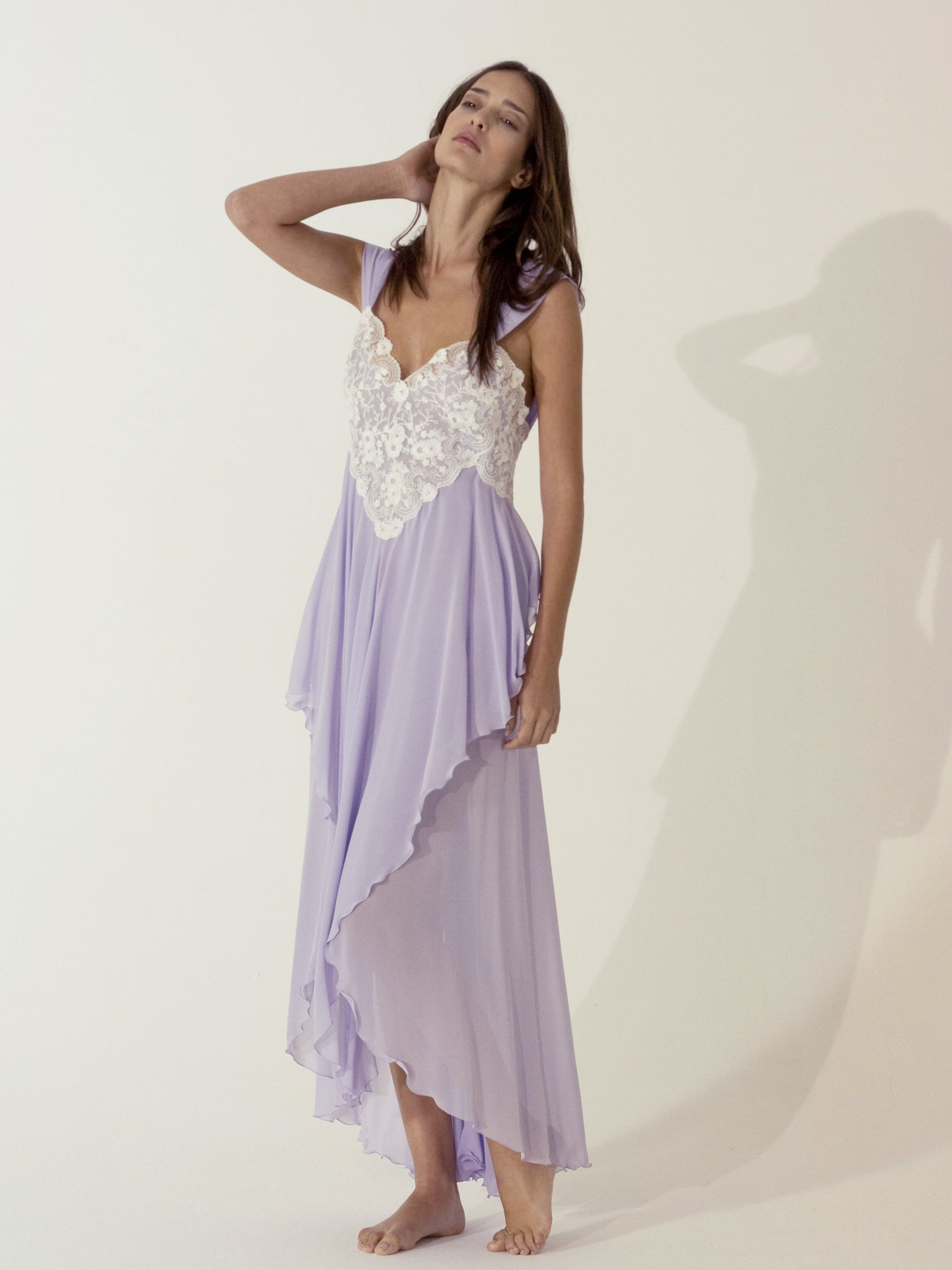 Long Silk Nightgown - Dress - italian lingerie