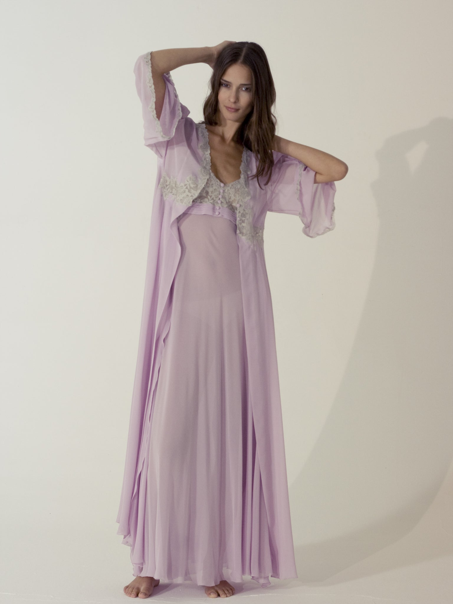 Silk Nightgown & Robe - Flora Lastraioli Shop Online