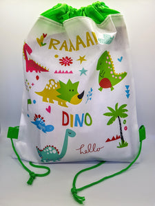Dinosaur Drawstring Travel Bag