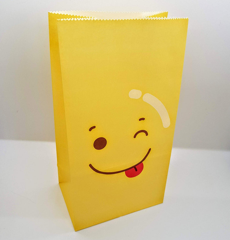Emoji paper gift bags with sticker