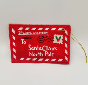 Letter to Santa Envelope Christmas Tree Decoration