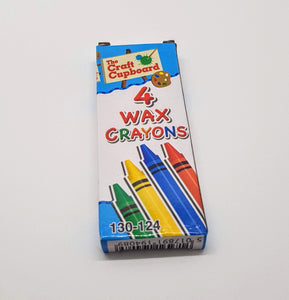 Packet of 4 wax crayons