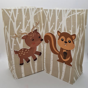 Woodland 3D Animal Paper Bags