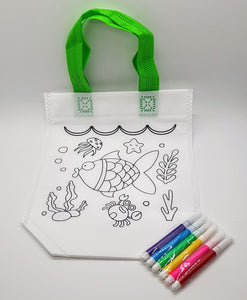 Colour-Me-In Bag with Fabric Colour Pens