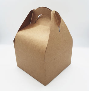 Brown Cardboard Gift Box with Handle