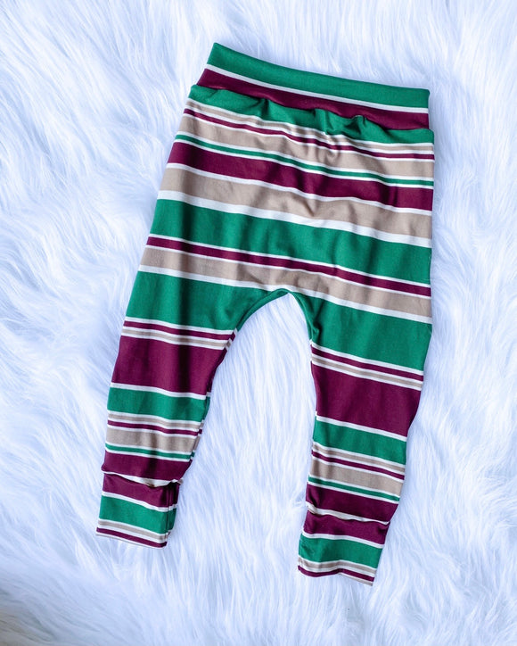 Holiday Stripes joggers