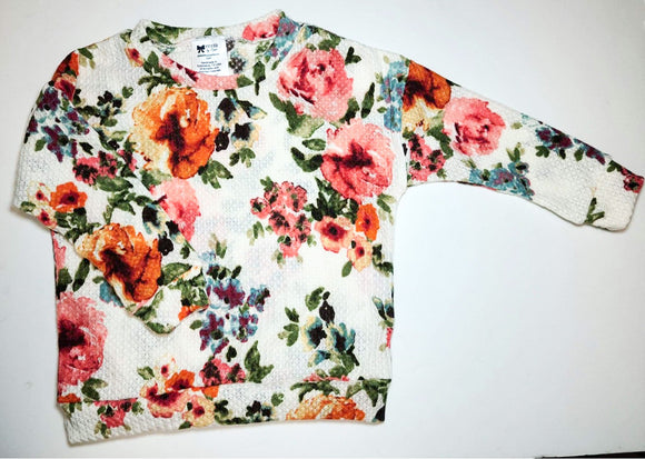 White Floral LS top