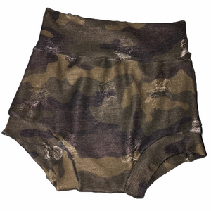 Distressed Camo bummies